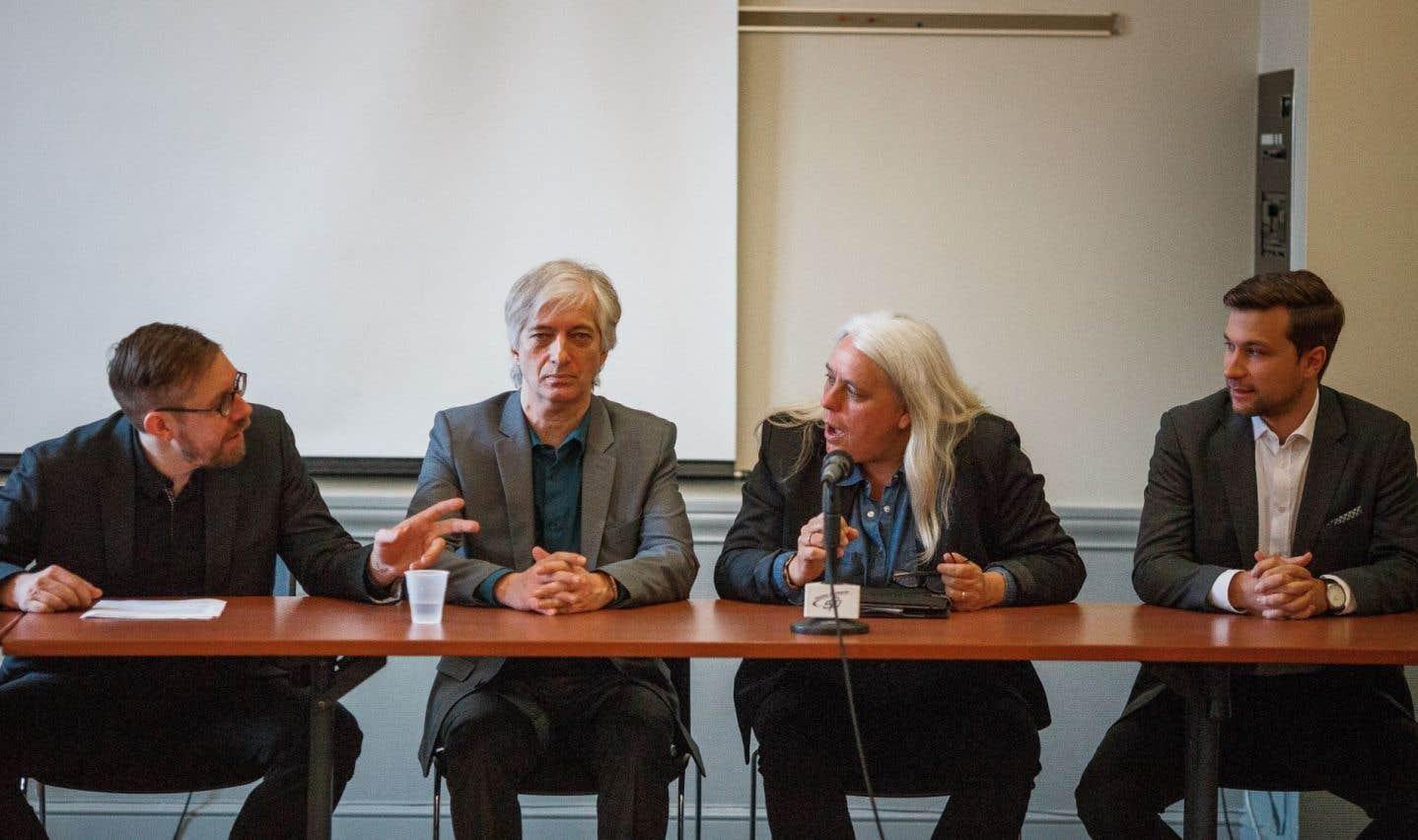 Les aspirants porte-parole de Québec solidaire en table éditoriale