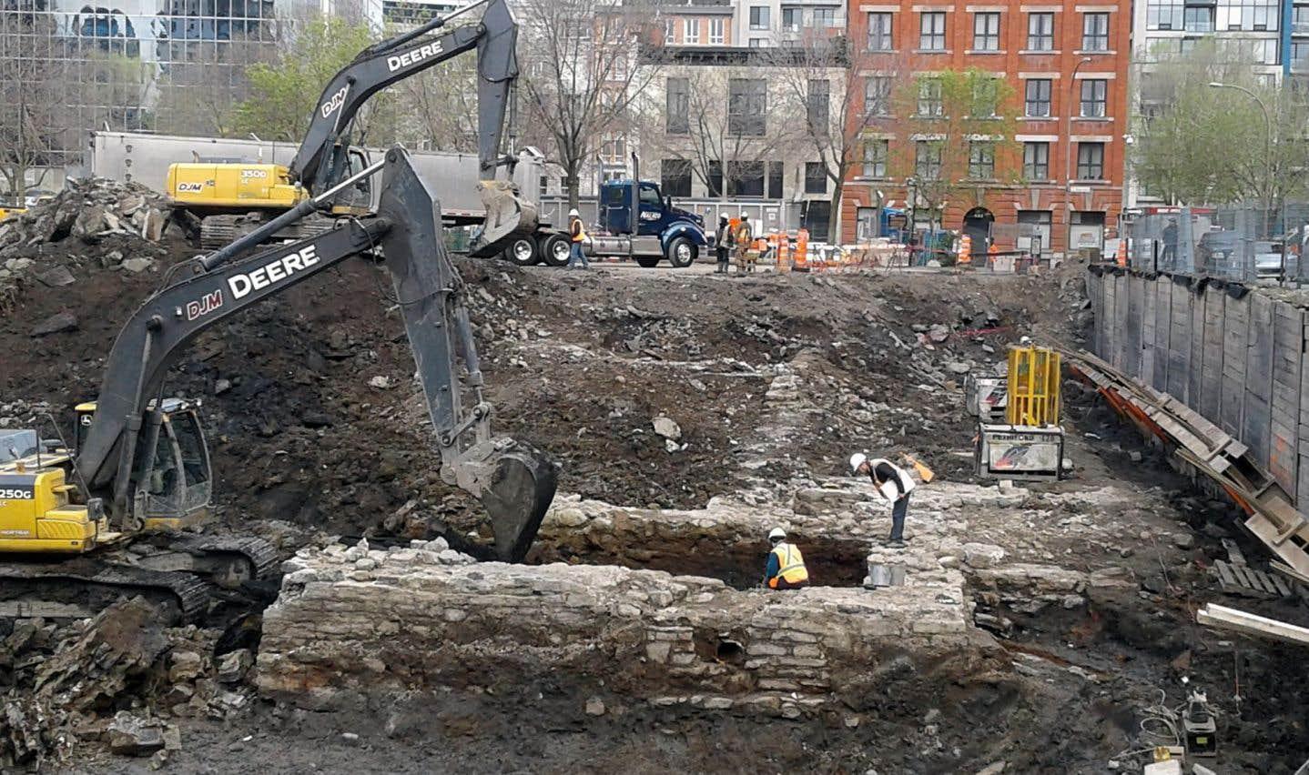 Des vestiges du Petit séminaire de Montréal détruits