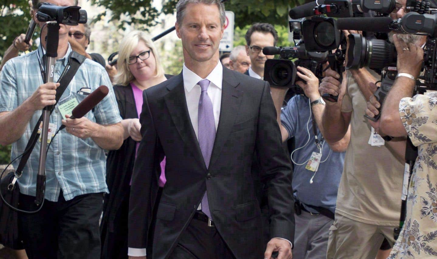 Nigel Wright, photographié en août2015 alors qu'il témoignait au procès de Mike Duffy, vient d'essuyer un blâme de la commissaire à l'éthique.