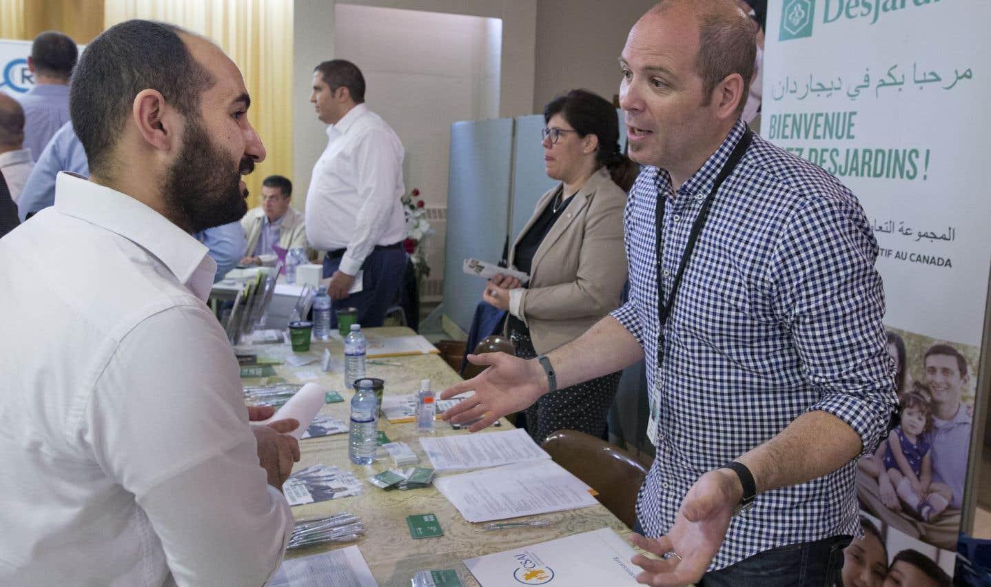 Un salon de l'emploi pour les réfugiés syriens