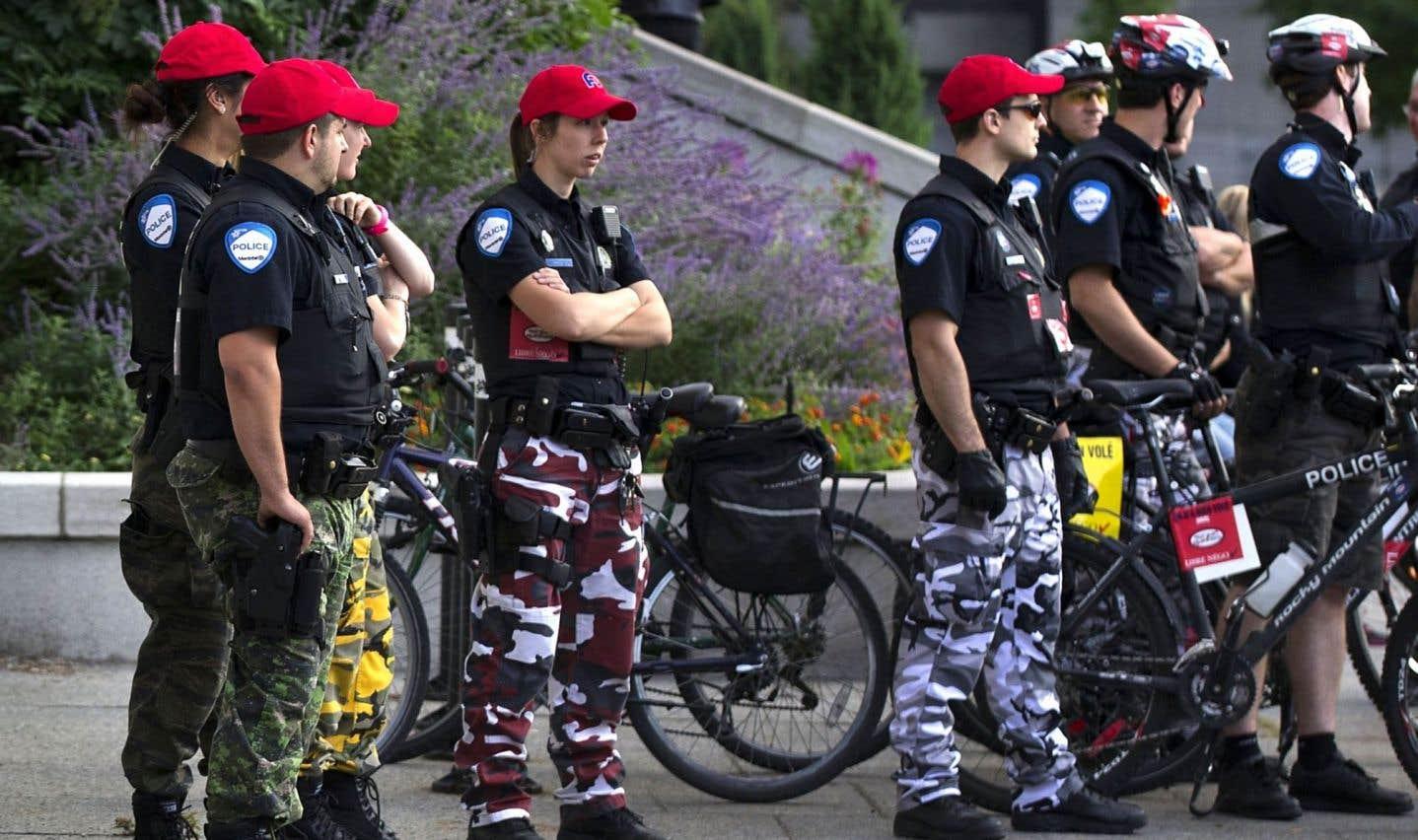 Les policiers de Montréal reviennent temporairement à l'uniforme