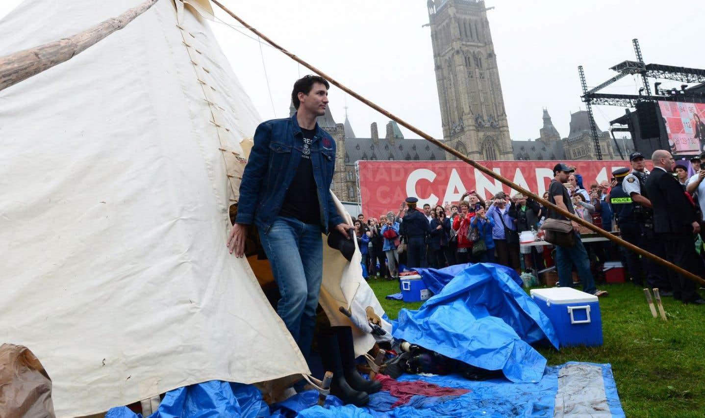 Justin Trudeau à la rencontre des militants autochtones
