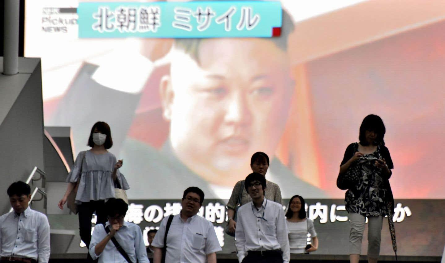 Le missile nord-coréen, une «nouvelle escalade de la menace»