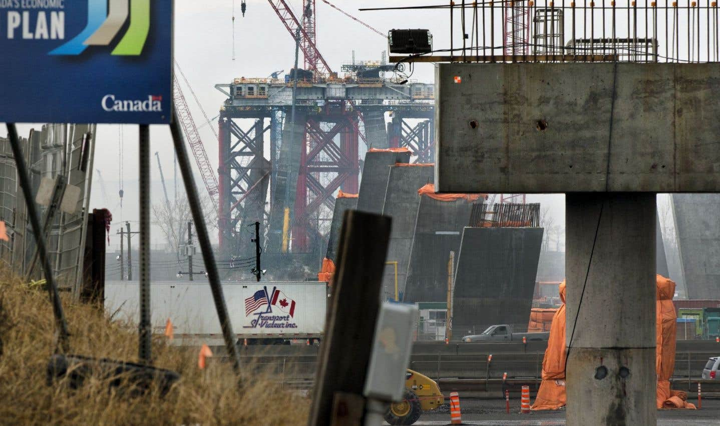 Des entreprises empêchées de livrer des pièces pour le nouveau pont Champlain