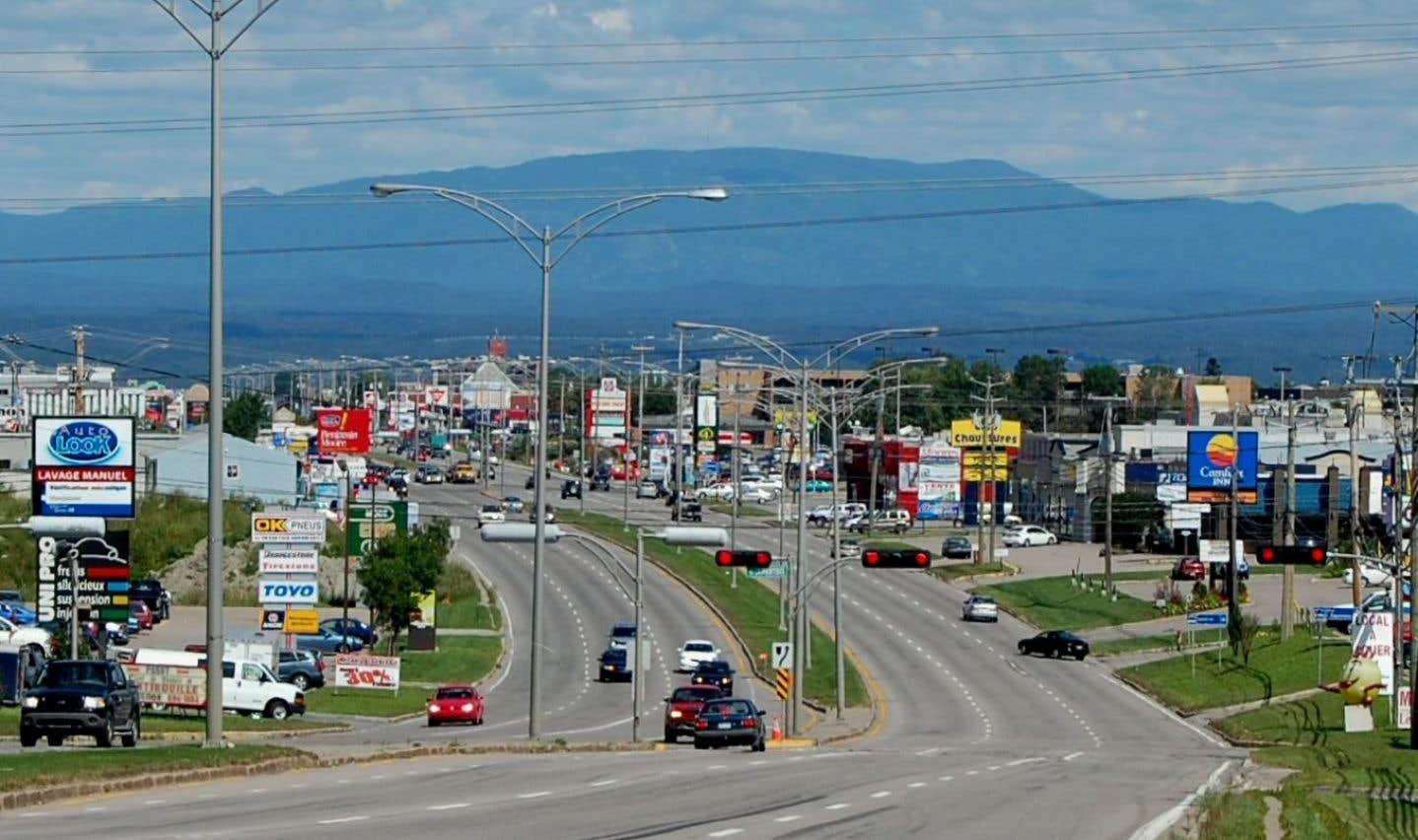 La ville de Saguenay.Ce n'est pas la première fois que l'inscription «Saguenay ville blanche» est placée dans la ville.