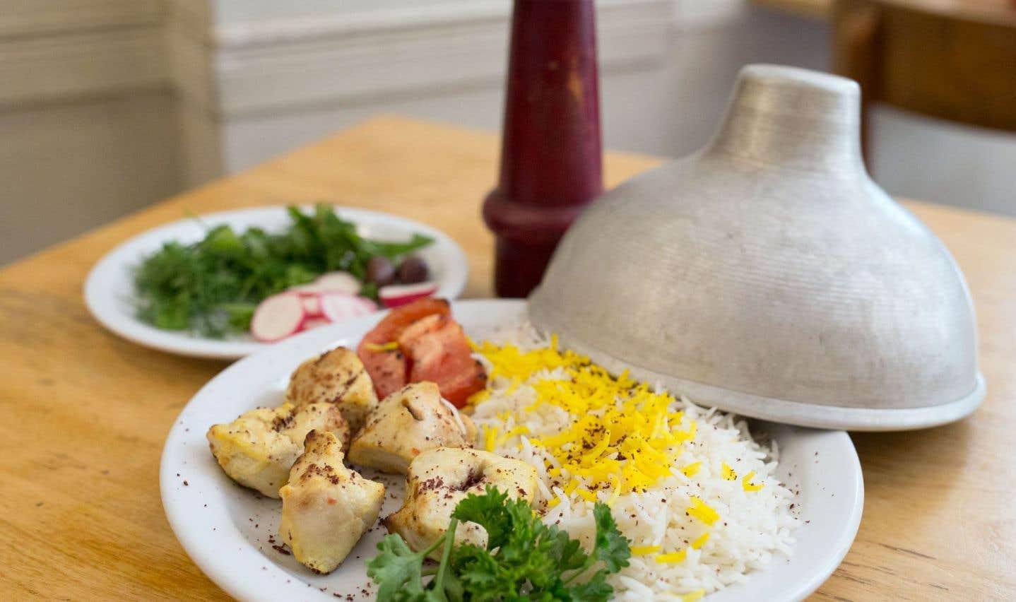 La recette de brochettes de poulet à l'iranienne du Byblos