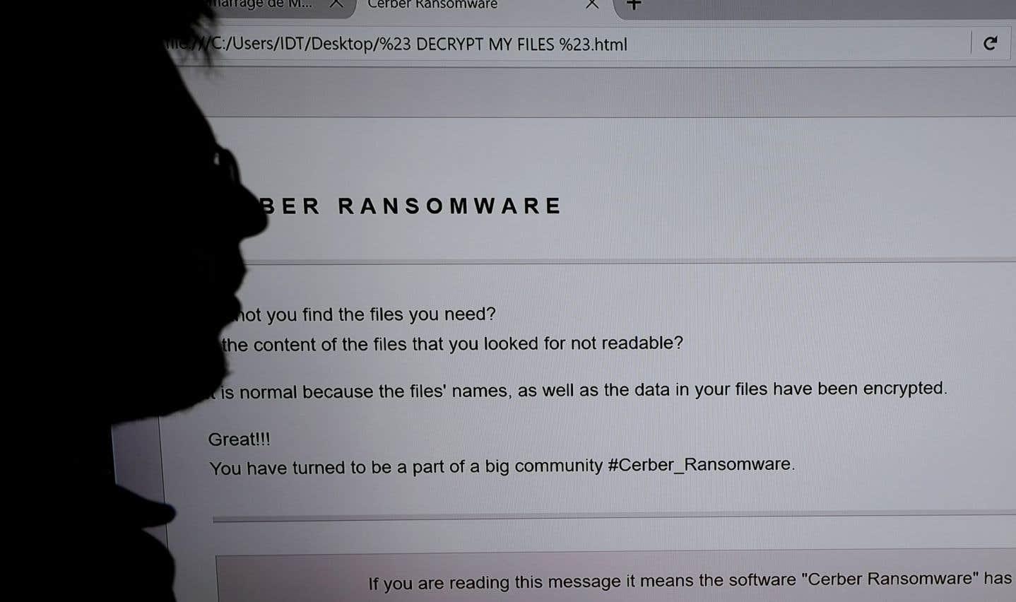 Le nombre de victimes d'une extorsion par piratage informatique s'est établi à 2,58 millions d'avril 2016 à mars 2017.
