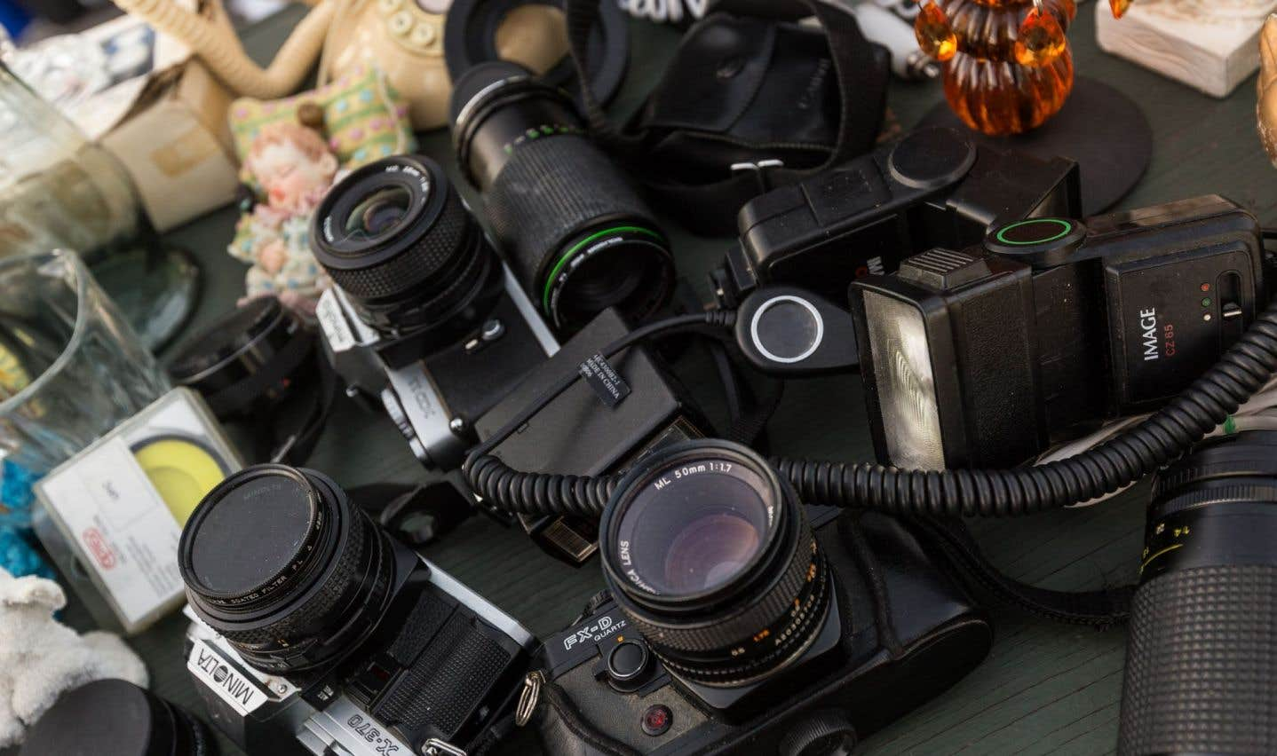 Des appareils photo argentiques d'occasion