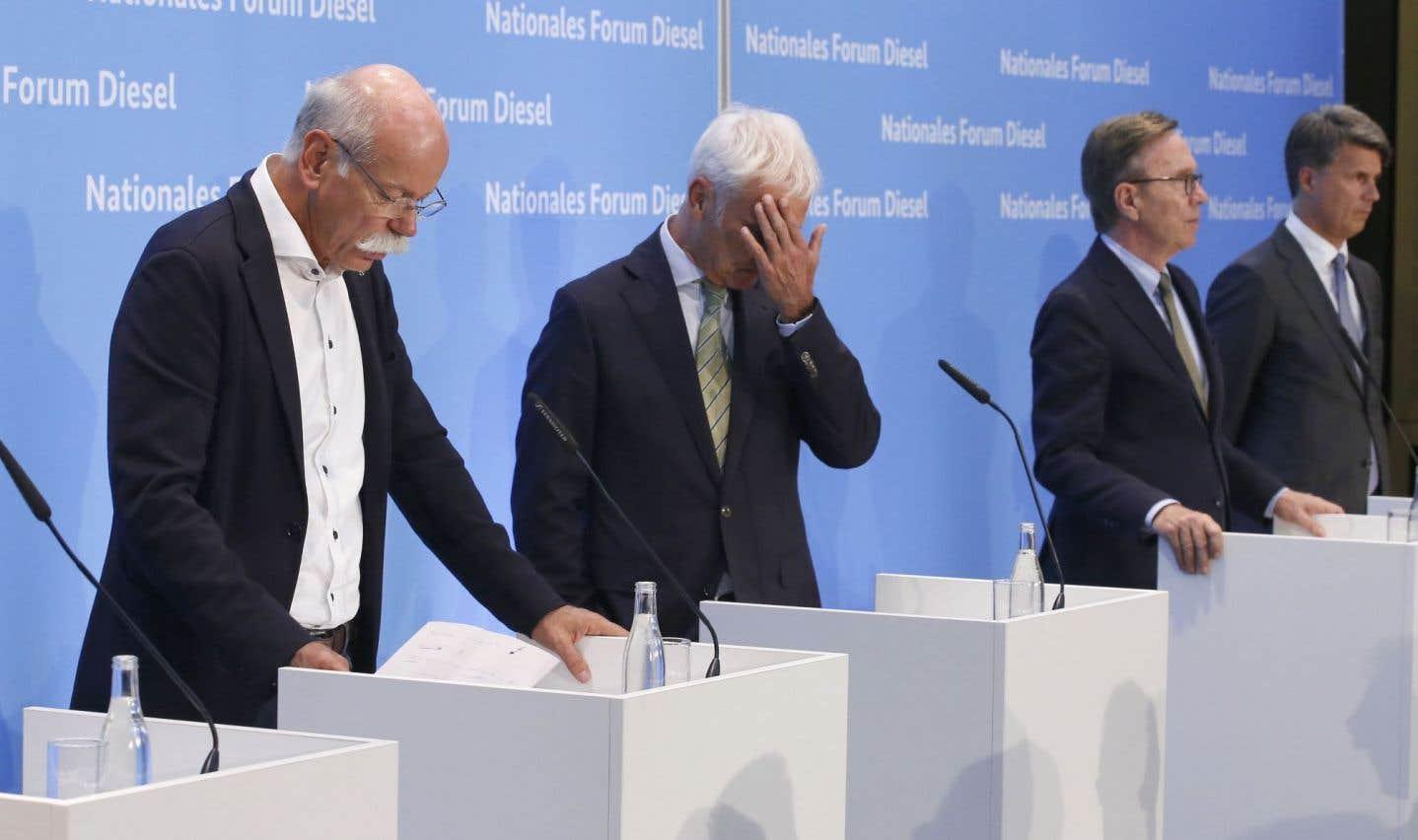 Les constructeurs allemands s'engagent à réduire les émissions polluantes