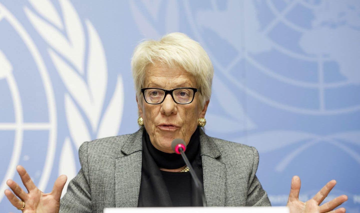 Carla Del Ponte a annoncé dimanche son départ en affirmant être «frustrée» quant à une Commission d'enquête qui «ne fait absolument rien».