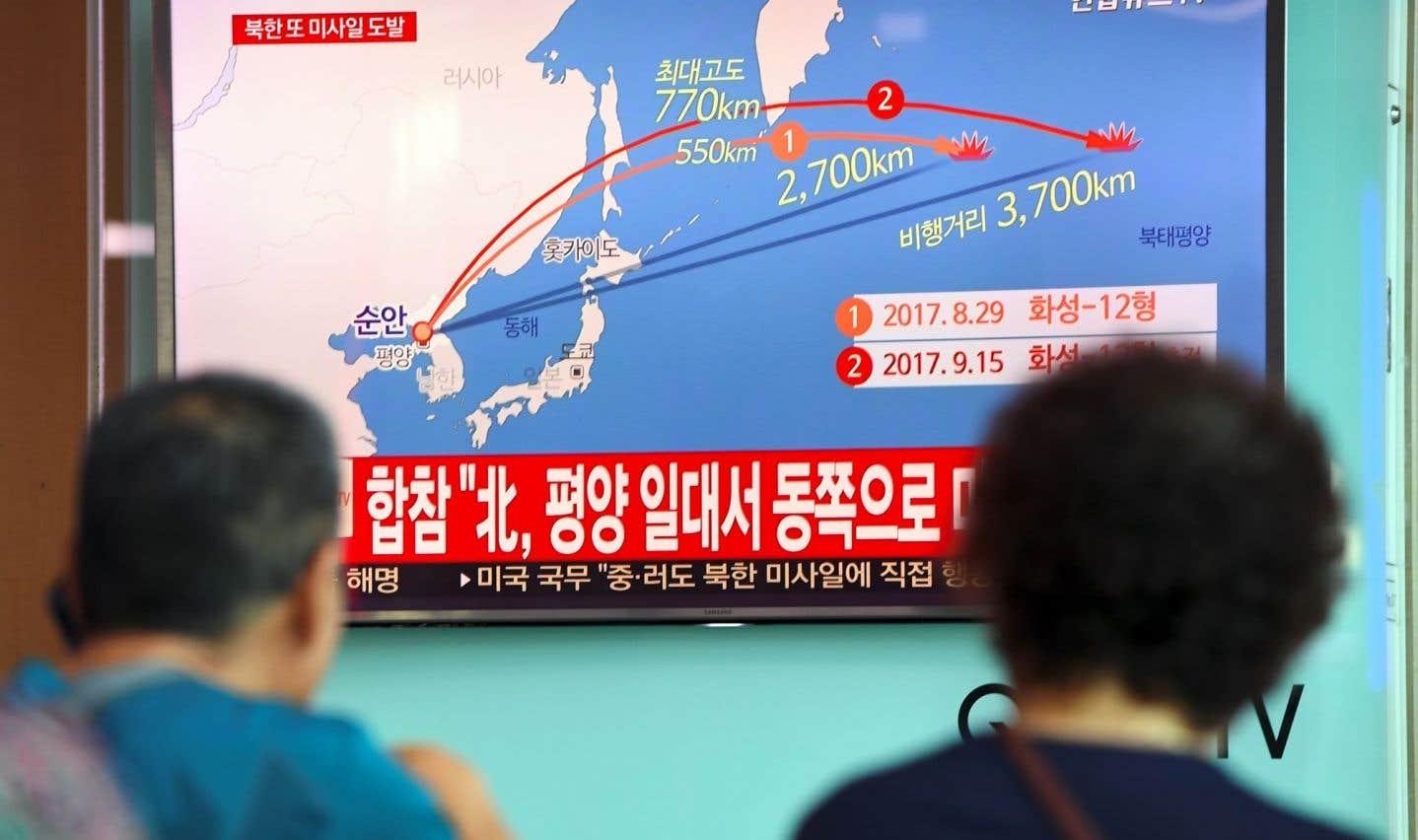 La Corée du Nord répond à l'ONU par un nouveau tir de missile au-dessus du Japon
