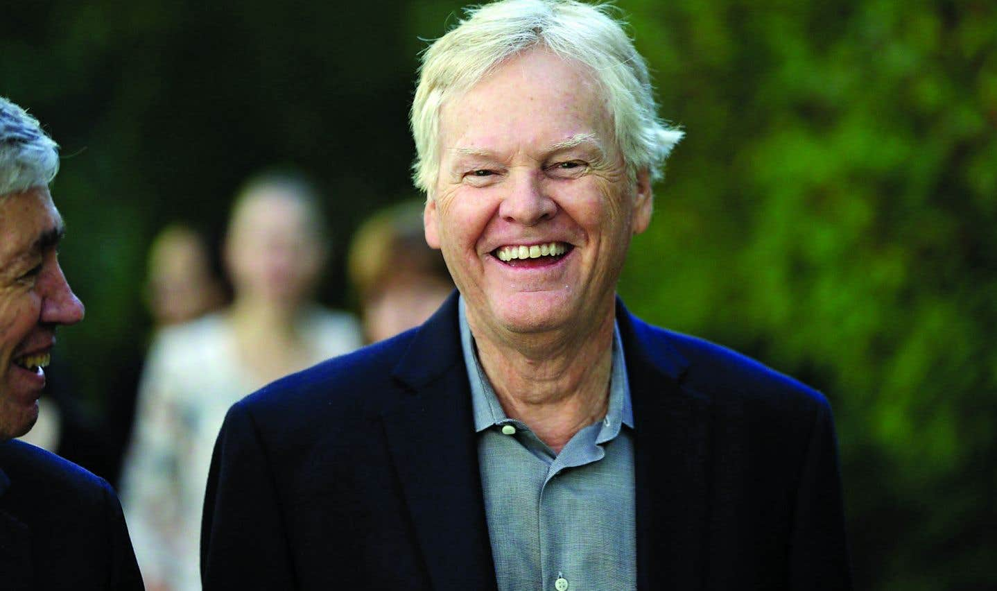 Michael Young sourit à l'annonce de son obtention du prix Nobel de médecine, avec ses collègues Jeffrey Hall et Michael Rosbash, pour ses travaux sur les cycles internes des êtres vivants.