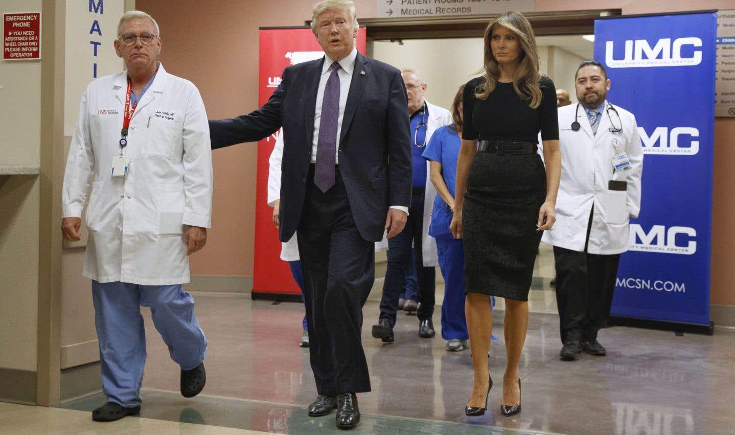 Donald Trump à Las Vegas au chevet d'une «Amérique en deuil»