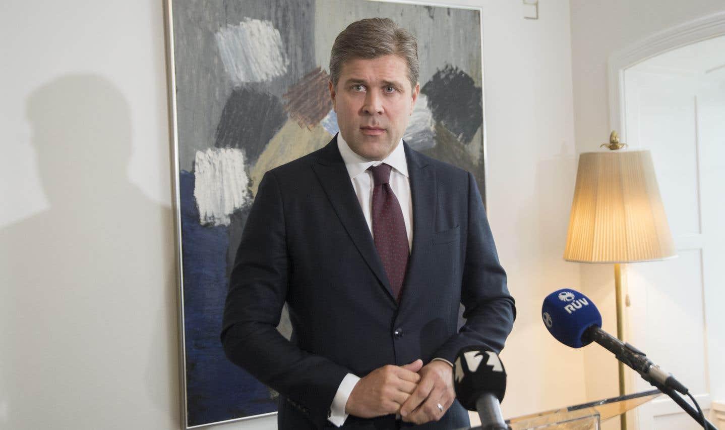 Le premier ministre islandais, Bjarni Benediktsson, en septembre dernier à Reykjavik