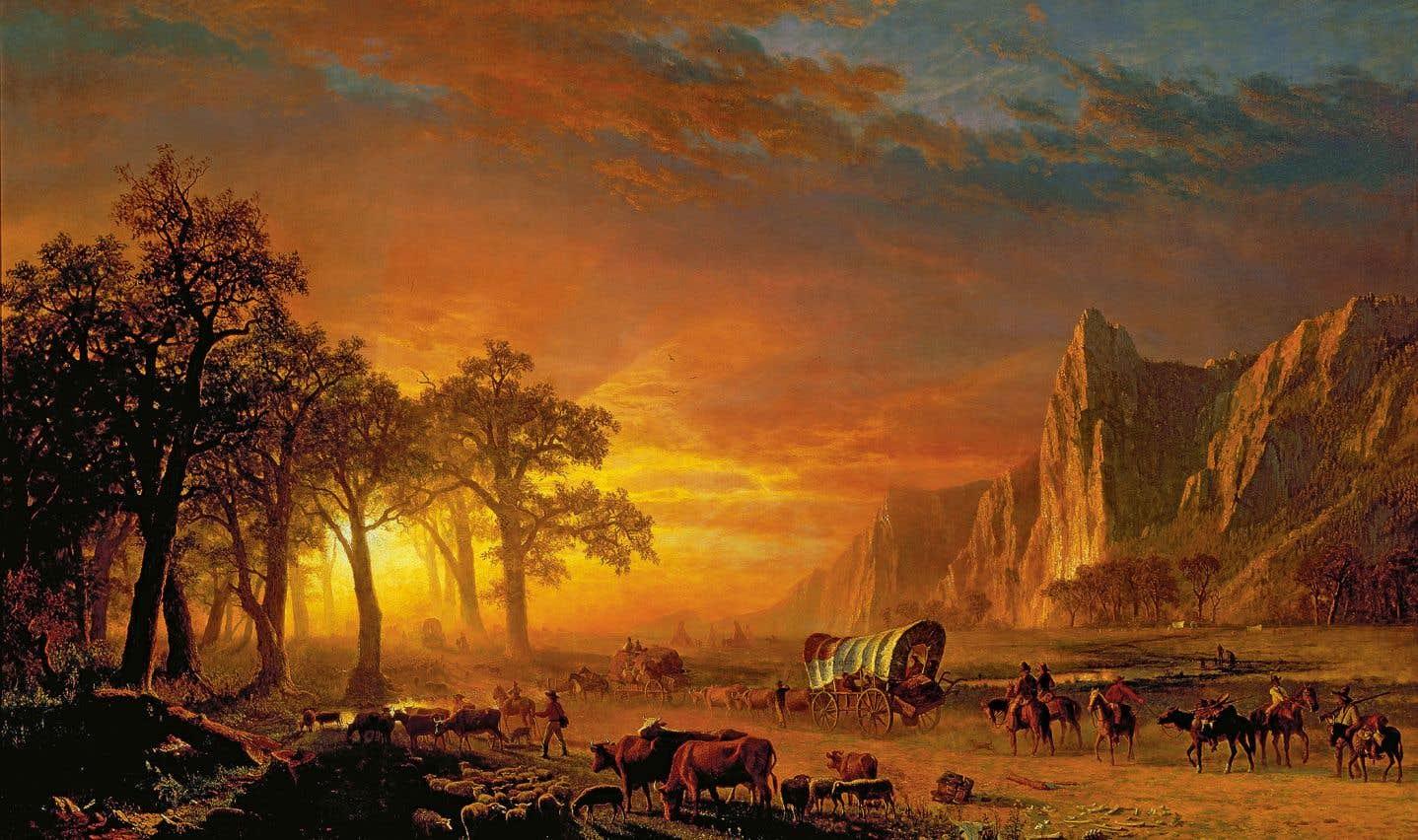 «Immigrants traversant les plaines», une huile sur toile (1867) d'Albert Bierstadt (1830-1902)