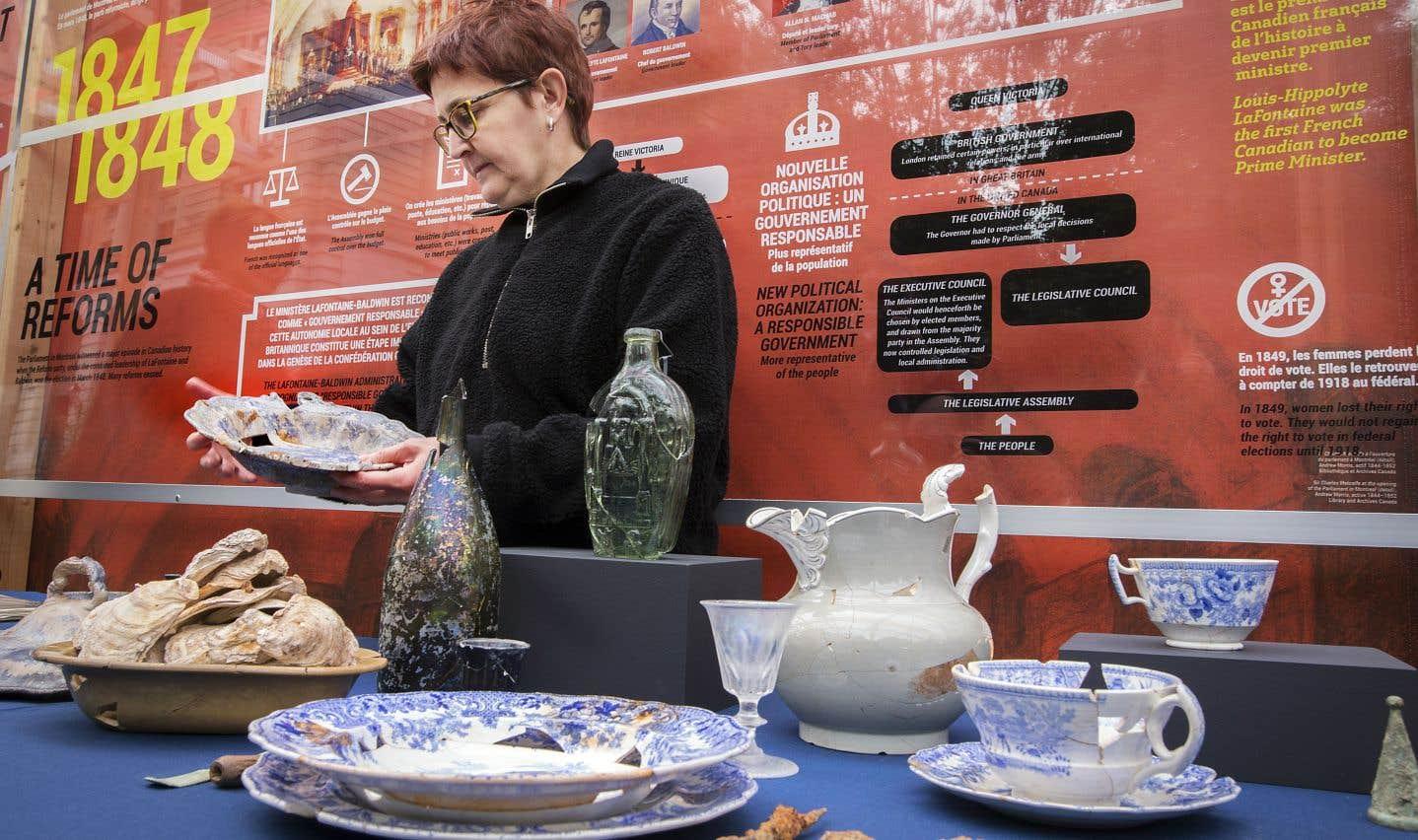 Des artefacts inattendus refont surface sur le site du premier parlement du Canada