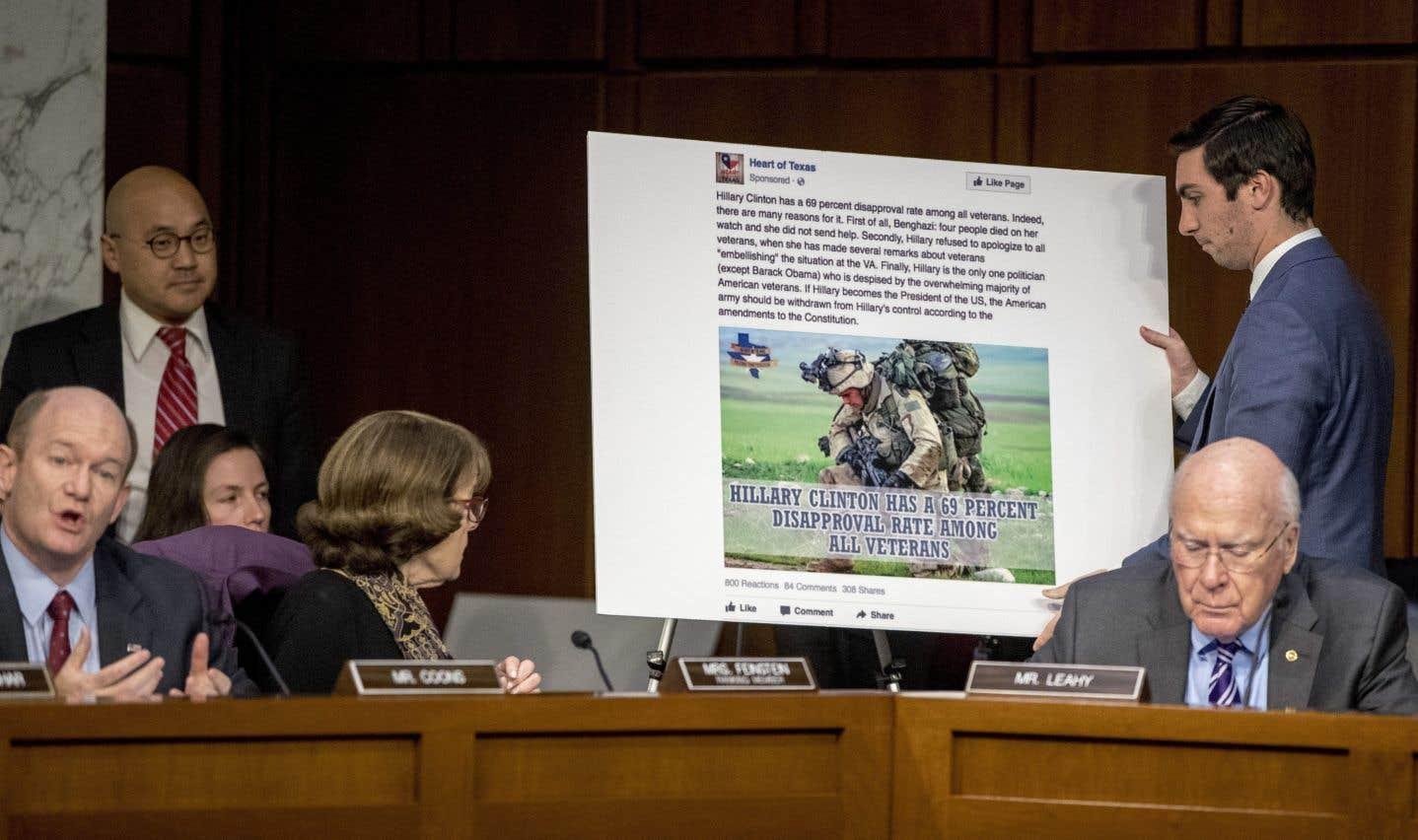 Les géants du Web vertement semoncés par le Congrès américain
