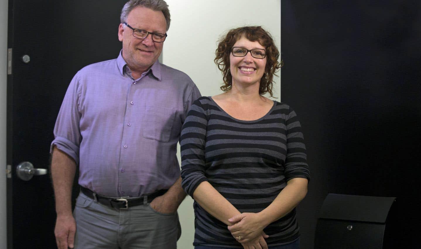 Gilles Renaud, directeur général d'Ateliers créatifs Montréal, et Stéphanie Beaulieu, présidente de Pied Carré, se sont lancés dans une opération de la dernière chance.