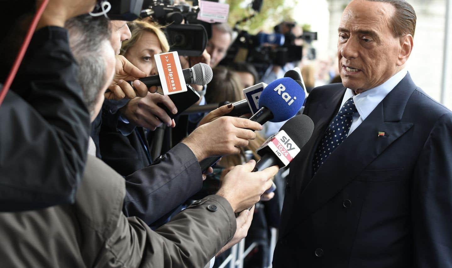 Silvio Berlusconi est l'ancien chef du gouvernement et véritable sphinx de la vie politique dans la péninsule, à 81ans révolus.