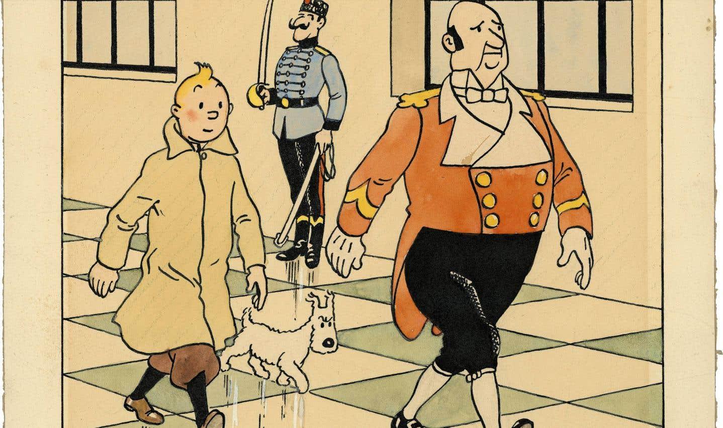 L'univers d'Hergé et de Tintin aux enchères