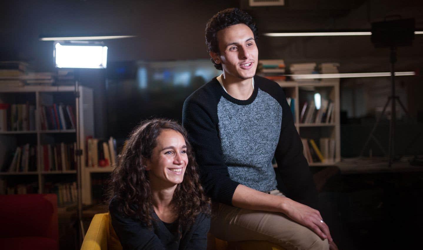 Les conseillers d'arrondissement Josefina Blanco et Younes Boukala