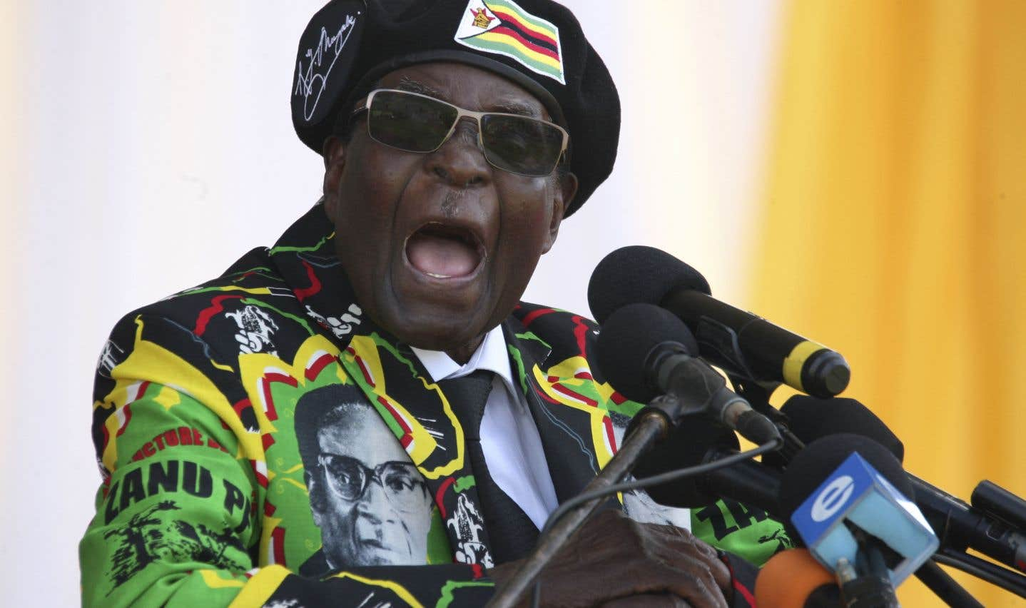 Robert Mugabe, pendant un événement du ZANU-PF à Bulawayo, le 4 novembre