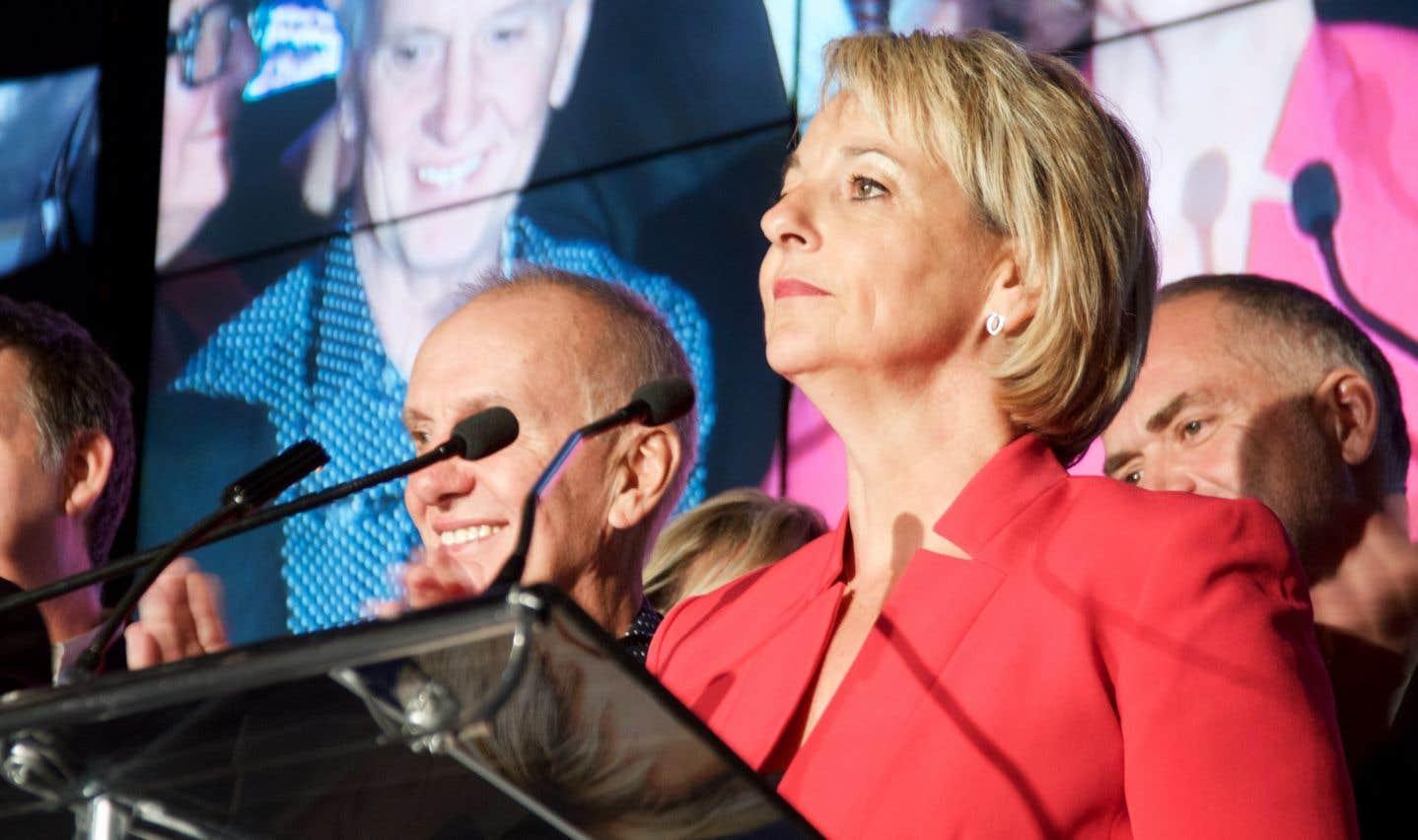 Sylvie Parent lors de sa victoire, le soir de l'élection du 5 novembre dernier