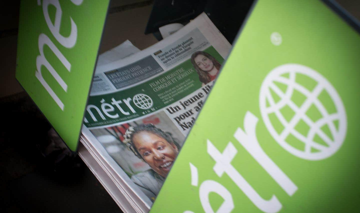 Le journal «Métro»compte en moyenne 1260000 lecteurs de ses versions imprimée et numérique, selon le dernier sondage Vividata.
