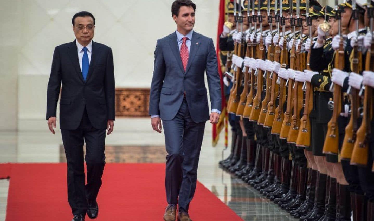 Justin Trudeau en visite officielle en Chine