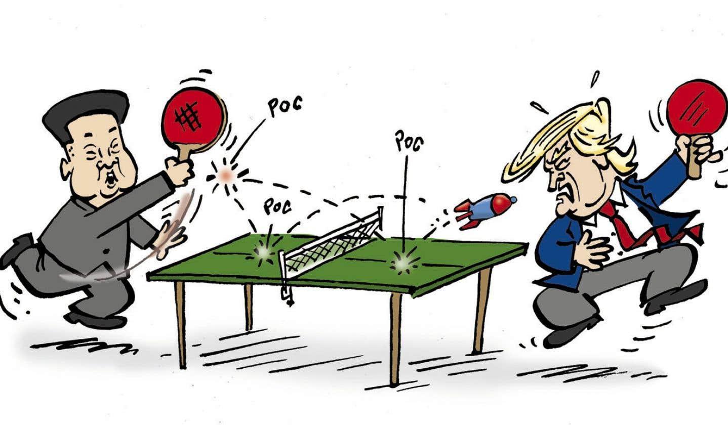L'année en dessins: ping-pong nucléaire entre la Corée du Nord et les États-Unis