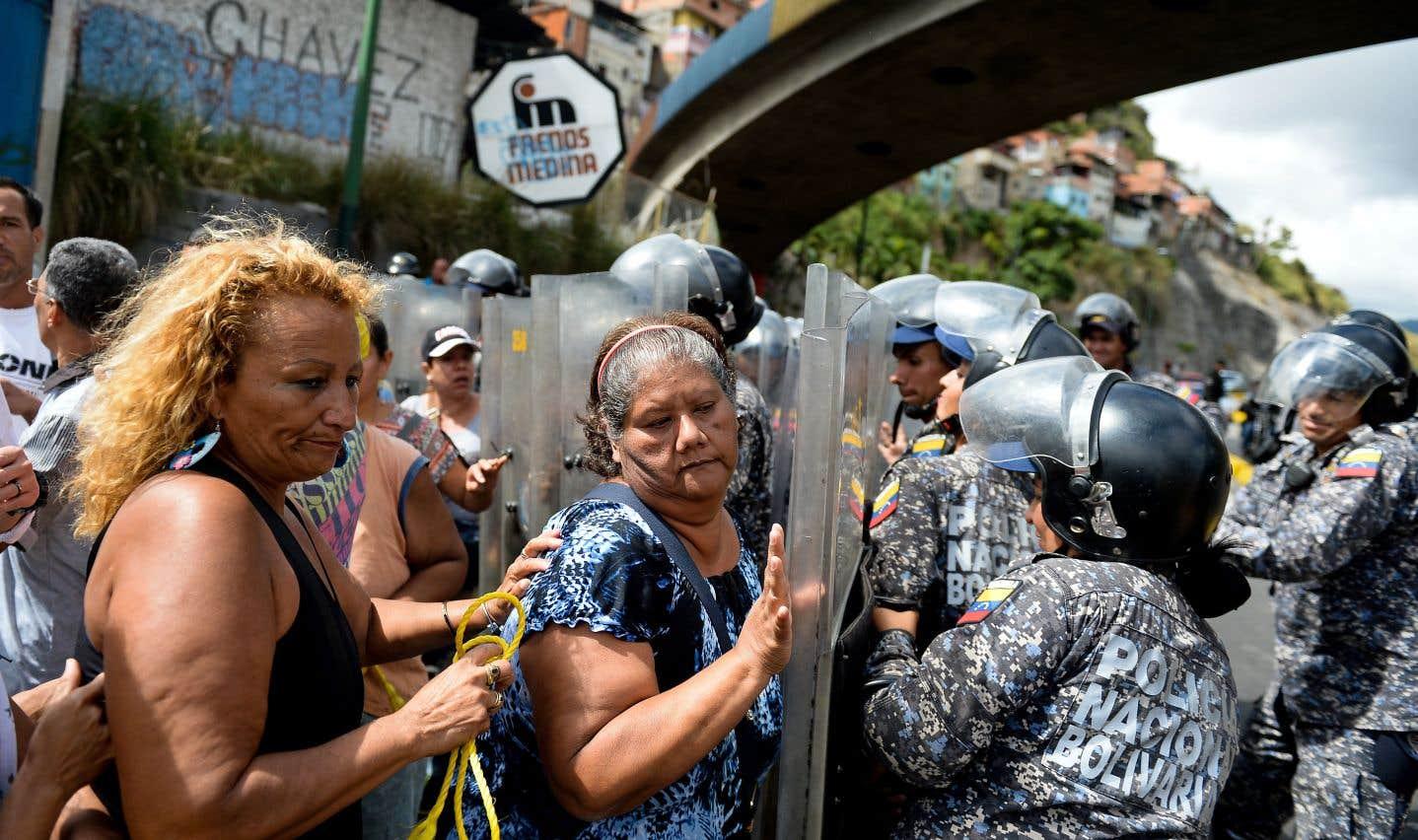 Une manifestation contre les pénuries de nourriture avait eu lieu dans la capitale, Caracas, le 28 décembre.