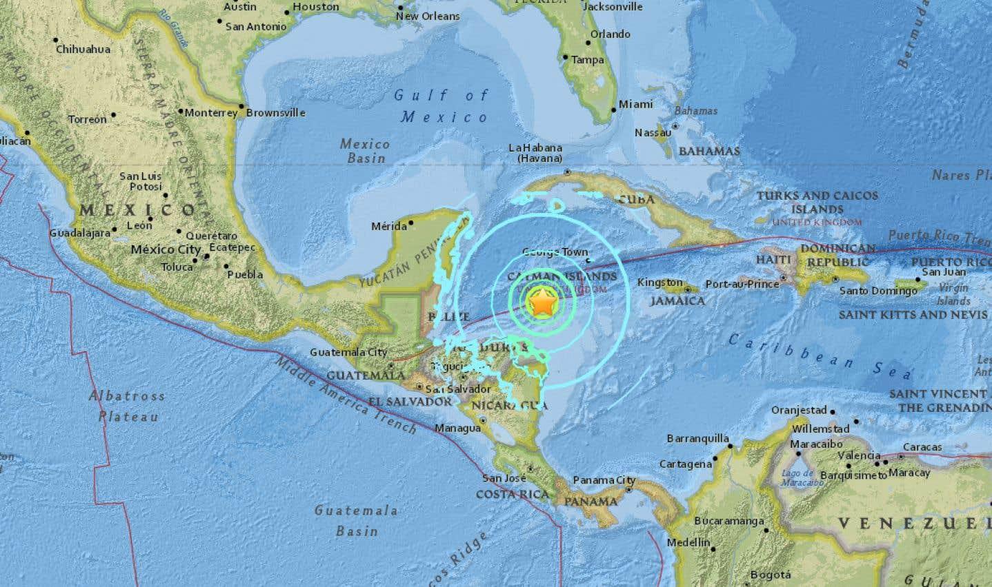 Un séisme de magnitude 7,6 au large du Honduras