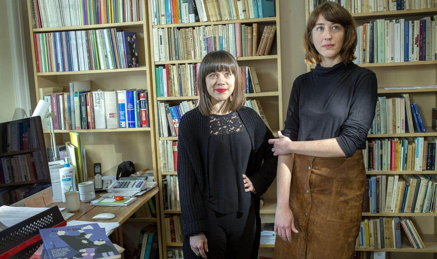 Le duo à la tête de «Moebius»: la directrice, Marie-Julie Flagothier (à gauche), et la rédactrice en chef, Karianne Trudeau Beaunoyer