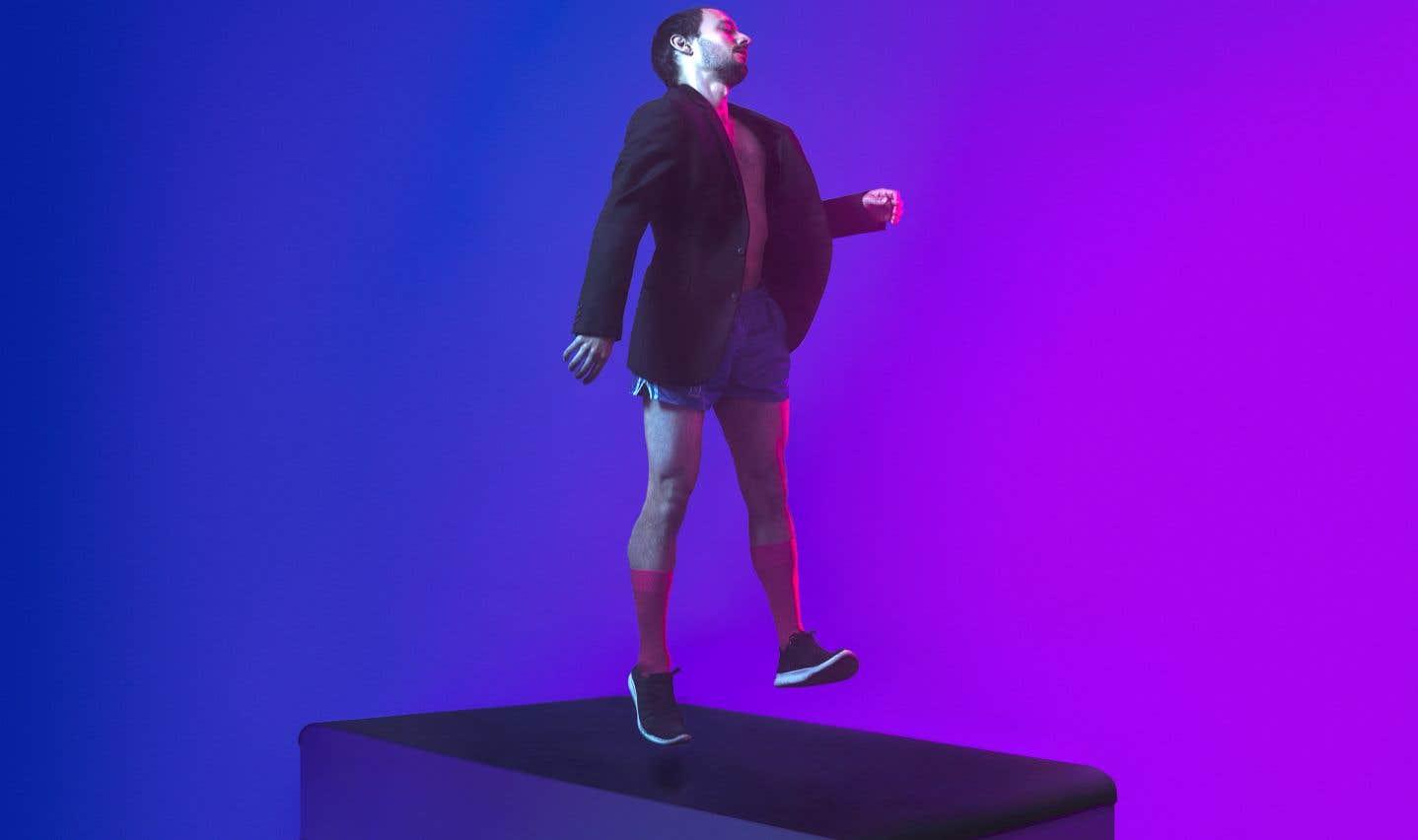 Qui d'autre que Manuel Roque pourrait incarner le joggeur compulsif que Jacques Poulin-Denis poussera à l'essoufflement dans «Running Piece»? L'interprète se frotte à une nouvelle épreuve d'endurance en se lançant dans une course effrénée sur un tapis roulant.