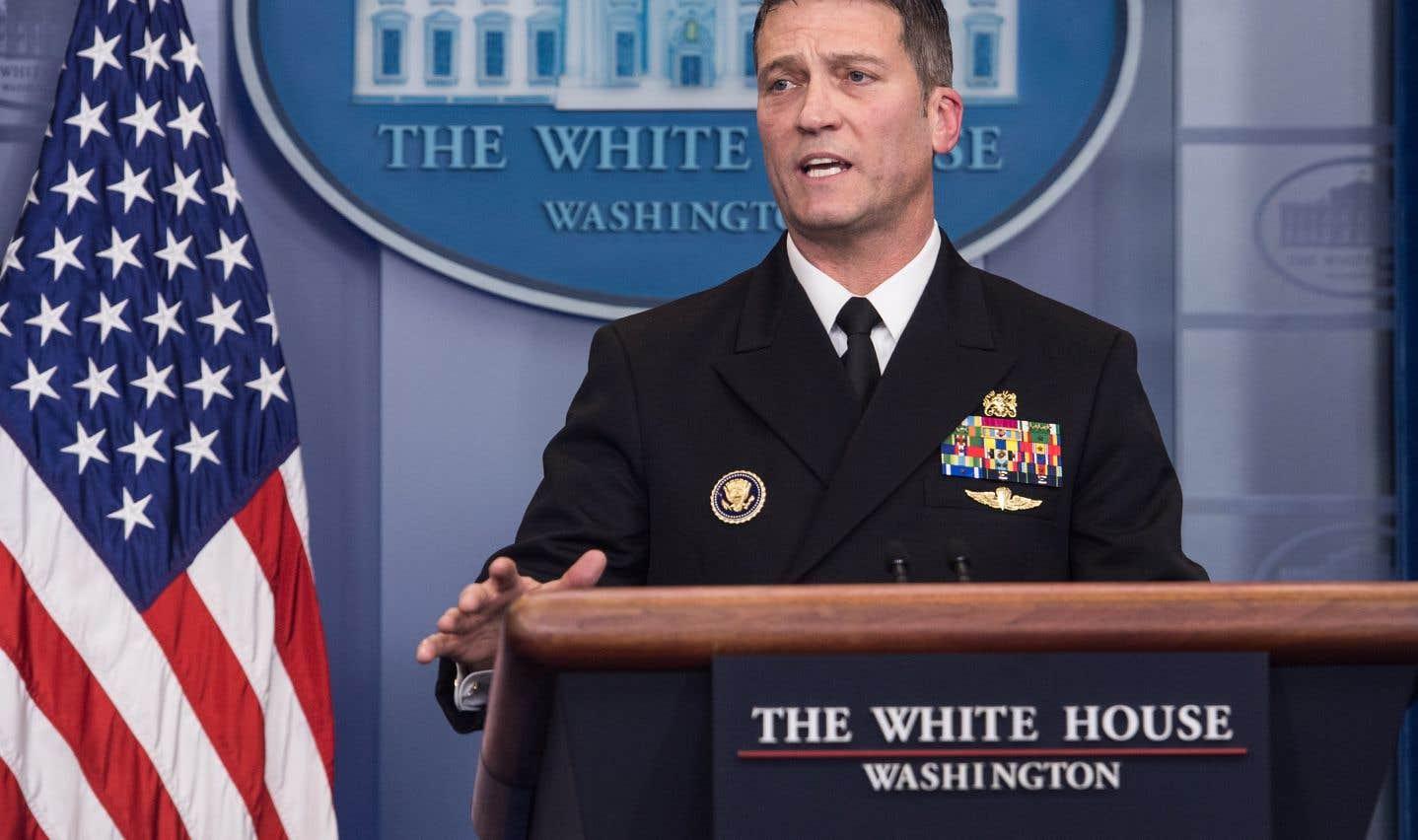 Le docteur Ronny Jackson, médecin de la Maison-Blanche