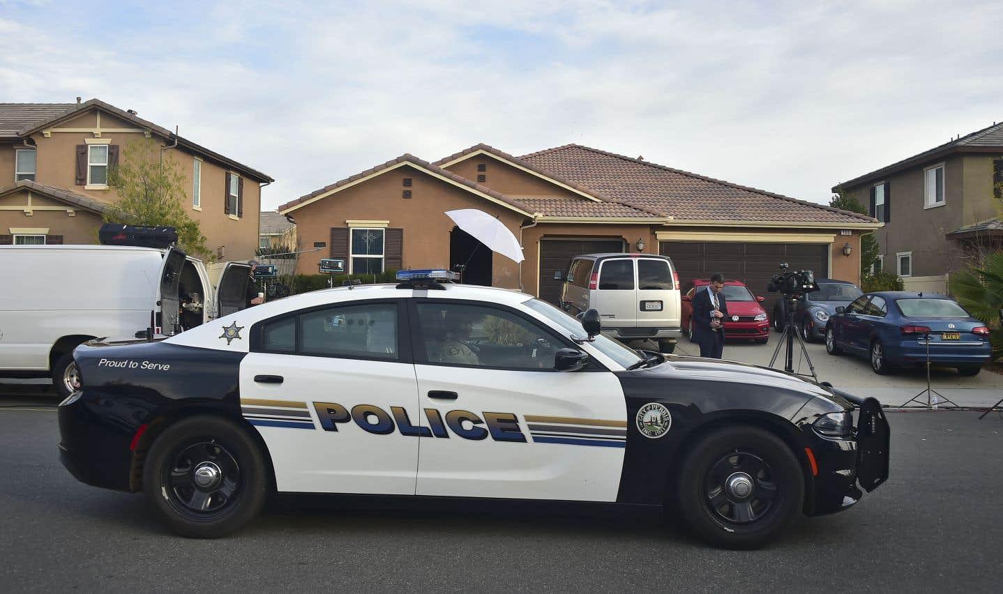 Les policiers ont secouru dimanche 13 frères et sœurs séquestrés par leurs parents dans cette demeure de Perris, en Californie.