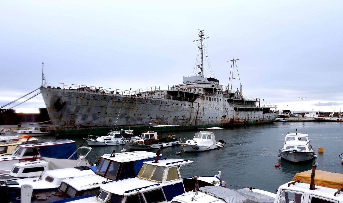 Le passé glorieux du «Galeb» tranche avec ce qu'est devenu le yacht.