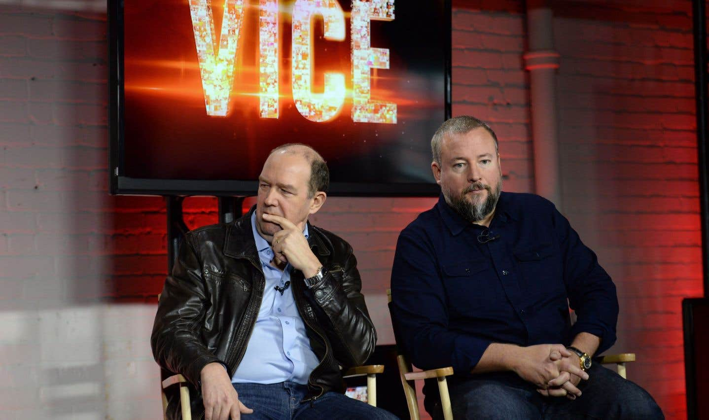 Le chef de la direction de Rogers, Guy Laurence (gauche), et le cofondateur de Vice Media,Shane Smith