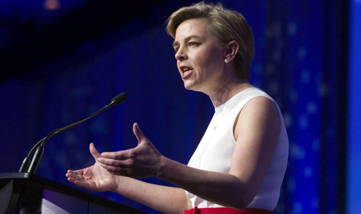 L'ancienne ministre et candidate à la chefferie du Parti conservateur Kellie Leitch