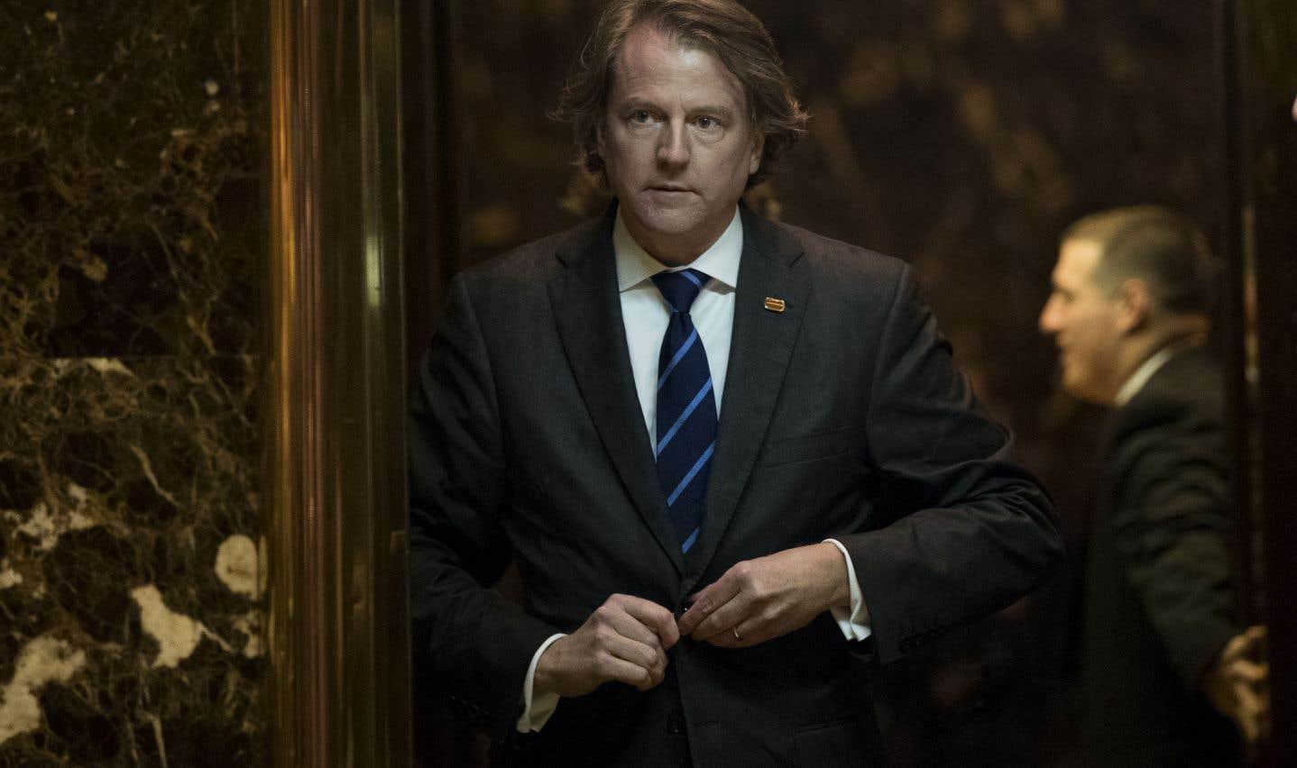 Le conseiller juridique de la Maison-Blanche, Don McGahn
