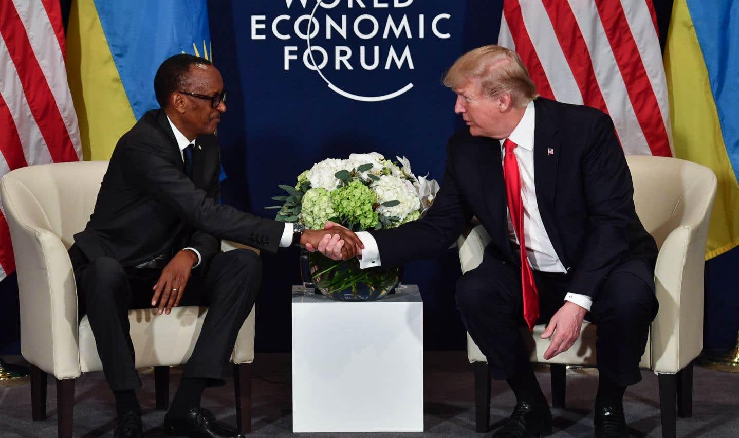 Le président américain a recontré vendredi le chef d'État rwandais Paul Kagame, président de l'Union africaine.