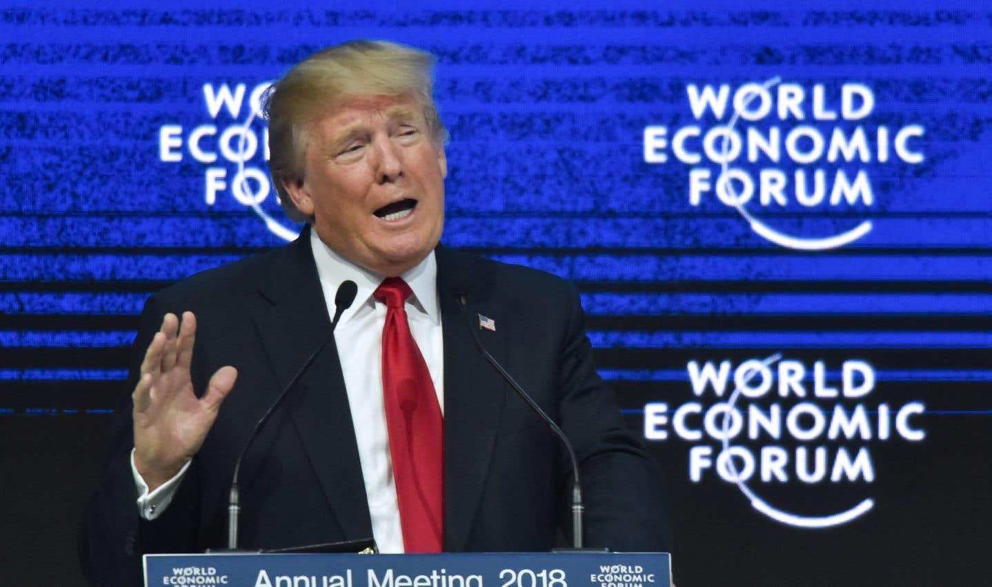 «Je suis là pour représenter les intérêts du peuple américain et pour affirmer l'amitié et la coopération des États-Unis pour construire un monde meilleur», a affirmé Donald Trump à Davos.