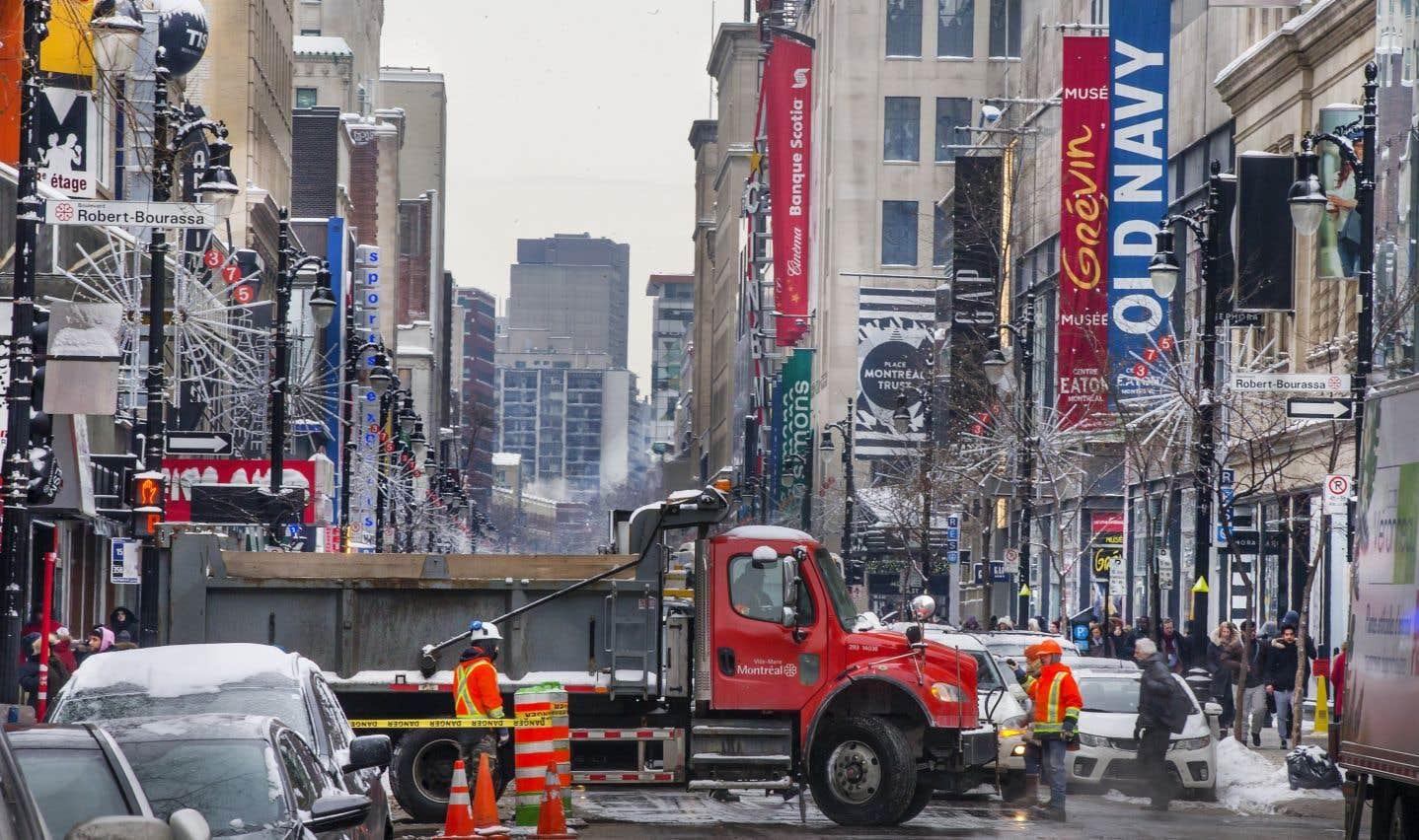 Montréal renonce aux structures gonflables sur la rue Sainte-Catherine
