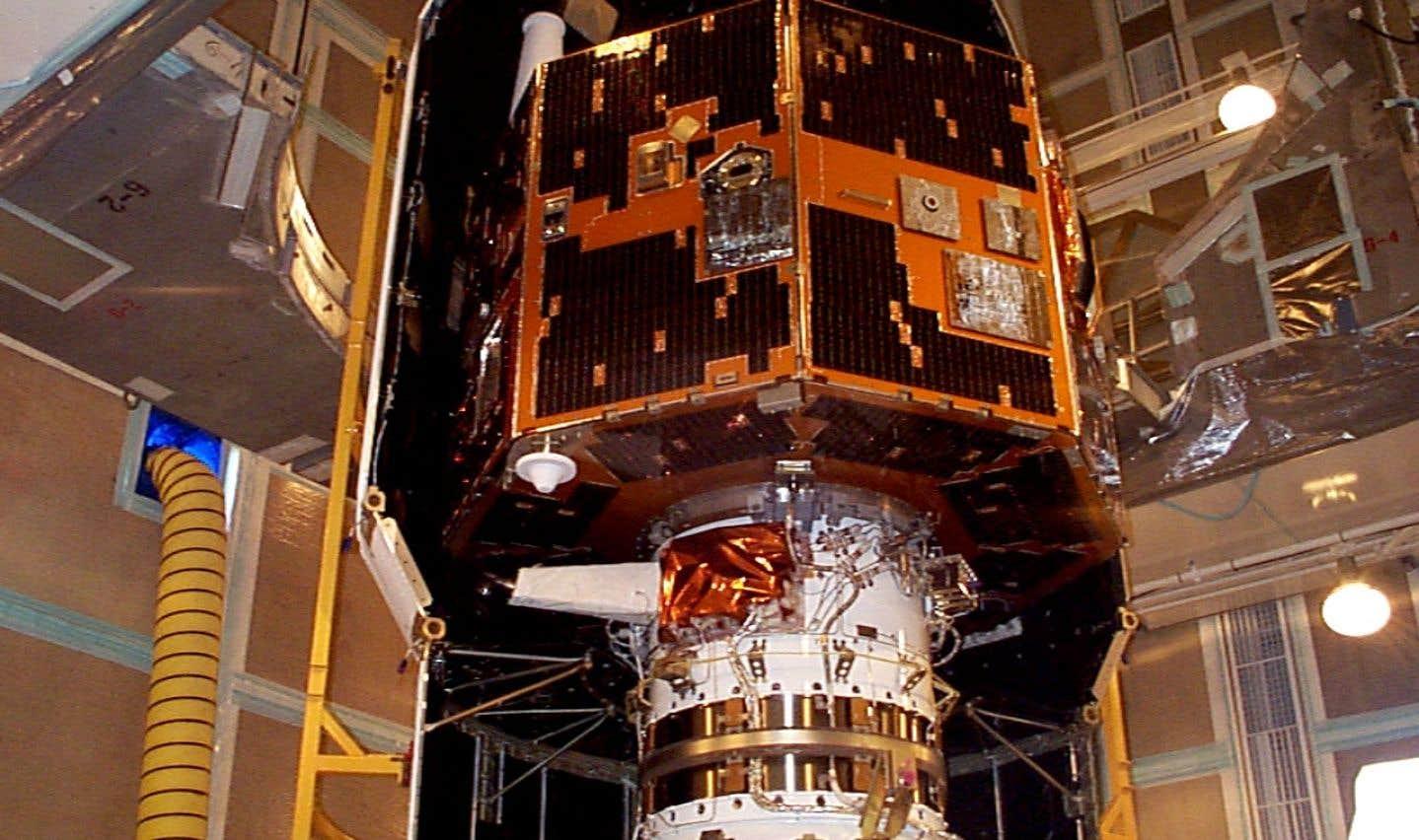 Le satellite IMAGE, peu avant son lancement