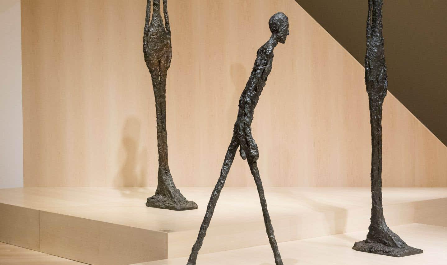 Alberto Giacometti, «Homme qui marche», 1960. Bronze.