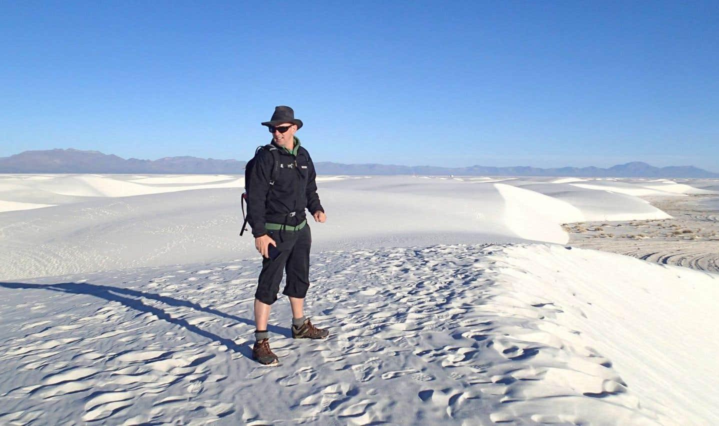 En 2017, l'auteur jeunesse est allé cherché un peu d'inspiration au coeur du White Sands National Park au Nouveau-Mexique.