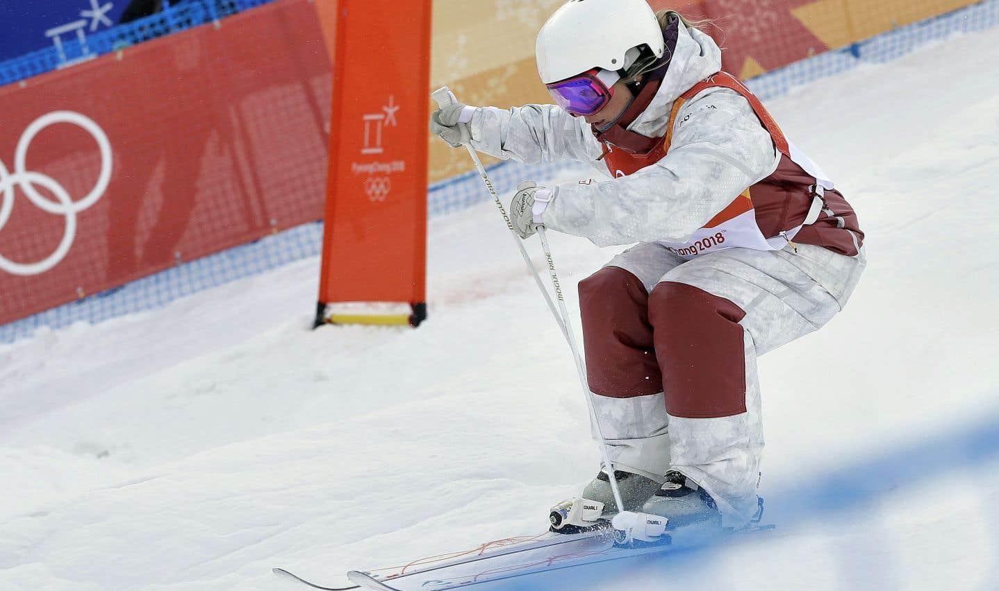 Audrey Robichaud a obtenu sa place en finale de l'épreuve des bosses jeudi soir au parc de neige de Bokwang.