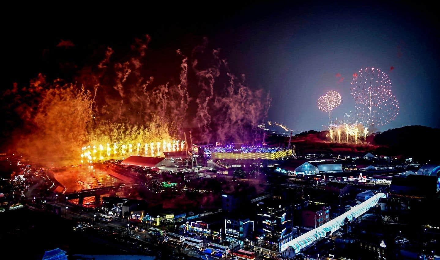 Pyeongchang a brûlé de tous ses feux durant la cérémonie d'ouverture des Jeux olympiques 2018.