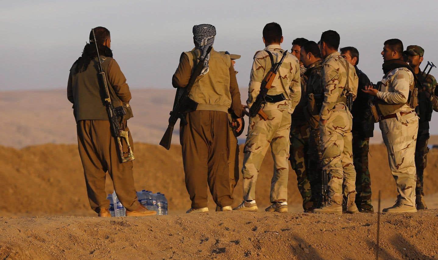 Selon Human Rights Watch,les peshmergas ont détenu des Irakiens et étrangers dans une école à Sahel al-Maliha,une localité à 70km au nord-ouest de Mossoul.
