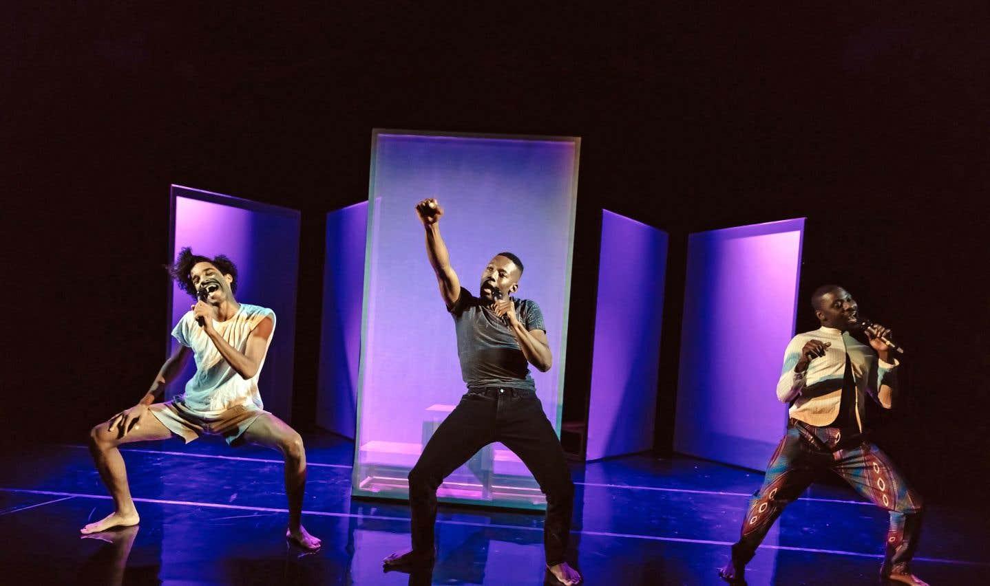 Les trois performeurs de «Black Boys» sont fort éloquents, mais également portés par une énergie peu commune, un mélange d'aplomb et d'autodérision tout simplement captivant.